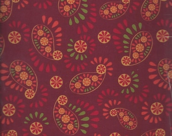 Medium Floral in Red (ABEL879-D) - BTY - P&B Textiles