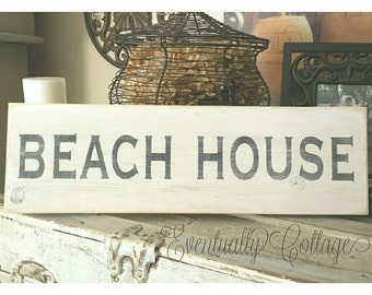 Hand painted Beach House Sign