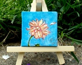 Wish, mini painting, original art, home decor