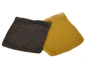 2 Handmade Vintage Bags 40s Clutches