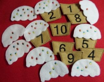 Cupcake Counting Set