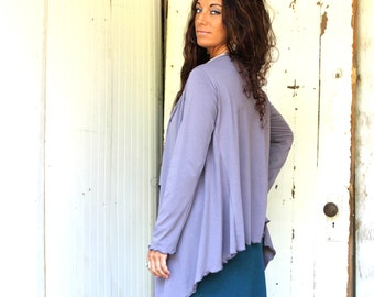 Driftwood Cardigan Shrug - Organic Fabric - Made to Order - You Choose the Color