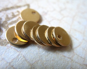 Shop Sale.. 2 5 10 25 pcs, Gold Blanks Discs Tags Bulk, 14k Gold Filled, 24 ga, 6 mm, tiny petite for custom personalize stamping blank6 v2