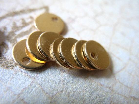 Shop Sale.. 2 5 10 25 pcs, 14k Gold Filled Stamping Blanks Discs Bulk, 24 ga, 6 mm, Petite, custom personalize stamping blank6 v2 solo yg
