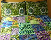 African wax duvet cover, wax print duvet, custom prints, Made to order, Bespoke African duvet cover. African patchwork