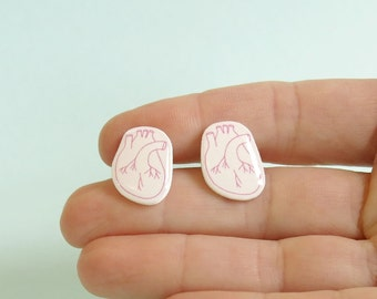 Heart Earrings Anatomy Jewelry Medical Jewellery
