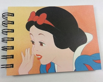 Snow White recycled mini notebook