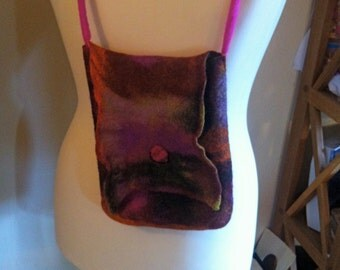 Handmade 100% Wool Felted Bag