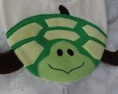 Turtle Bib, Infant Baby Bib, Animal Reversible Fleece Bib, Animal Bib, Baby Shower Gift, Baby Bib, Newborn Gift, Newborn Toddler Bib