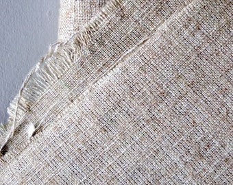 """Vintage Artist Flax Linen Painting Canvas Fabric - 3 plus yards - 49"""" width - Raw Linen - Crafting - Upholstery - Unbleached - Un Gessoed"""