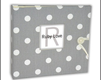 BABY BOOK | Gray Polka Dot Album - Ruby Love Modern Baby Memory Book
