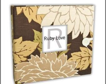 BABY BOOK | Muted Garden Floral Album | Ruby Love Modern Baby Memory Book