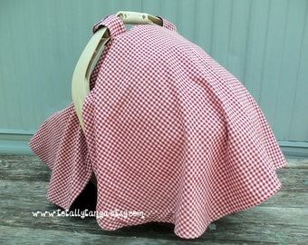 Car Seat Canopy with Full Coverage in a Double Sided Cotton