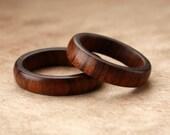 Custom Matching Tamboti Wood Rings - 5mm