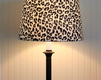 Leopard Drum Shade Lamp Shade Pendant Lampshade Grey Black White Made to Order