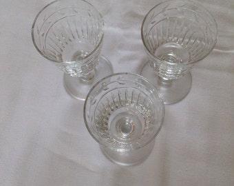 Crystal Aperitif Glasses Set of 3