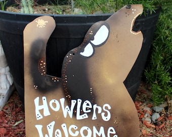 Celebrate Your Howling Hound: Custom Metal Howling Dog Signs