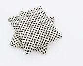 Moth Repellent Lavender Bags, Cream Black Polka Dot Sachets for Scented Drawers