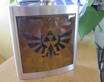 Zelda Family Crest Liquor Hip Flask