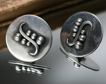 Vintage Sterling Earrings - Screw Back