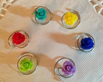 Hair Jewelry Hair Swirls Spin Pins Spirals Rainbow Flowers (Qty 6) Coils Twists Hairswirls1