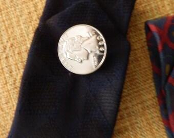 Vintage necktie upcycled cuff bracelet