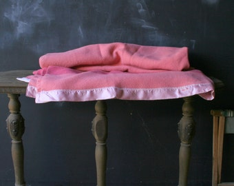 Vintage Wool Blanket Two Tone Pink Hudsons Bay or Eatons Trapper For Bohemian Camping Glamping Or Cabin Decor From Nowvintage on Etsy