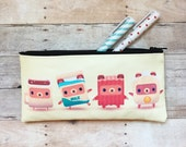 Breakfast Bears Alphabear Small Zipper Pouch