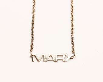 Vintage Name Necklace - Mary
