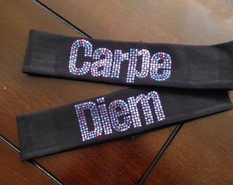 Headband--Block Colorful Name-Mixed Up Rhinestone HEADBAND Made to Order 7+ Letters
