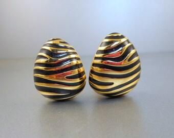 Joan Rivers Zebra Stripes Earrings