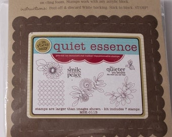 Unity Stamp Company Quiet Essence cling rubber stamp set