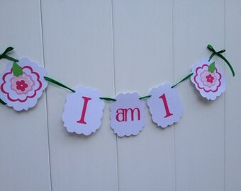 I am 1 Banner - High Chair Banner