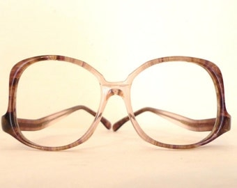 Tart Vintage 70s 80s NOS Big Mod Upside Down Frame. Marbled. New Old Stock Never Used