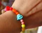 Buddha Bracelet - Buddha Jewelry - Karma Bracelet - Good Luck Bracelet - Rainbow Jewelry - Chakra Bracelet - Boho Bracelet