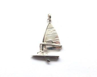Sterling Silver Windsurf Brooch