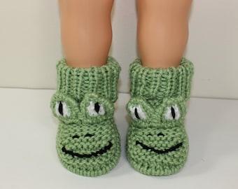 Instant Digital File pdf download knitting pattern Toddler Frog Boots