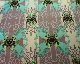 UNICORN LAND Lime Pernilla's Journey by Tina Givens Quilt Fabric 1.25 yard