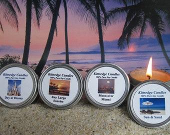 FLORIDA  SAMPLER (four 2-oz soy candles)
