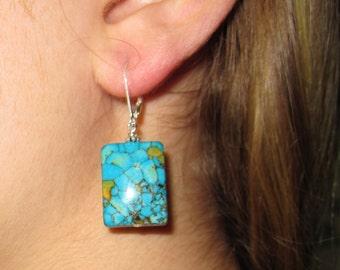 Mosaic Turquoise Earrings