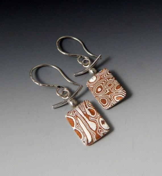 Mokume Gane Earrings: Mokume Gane Dangle Earrings By JewelrybyFrancine On Etsy