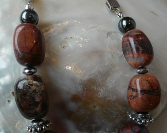 Chunky Jasper necklace.