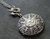 Celestial - Sun Accent Locket Necklace