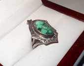 Vintage Sterling Silver and Turquoise Ring Size 6 1/2