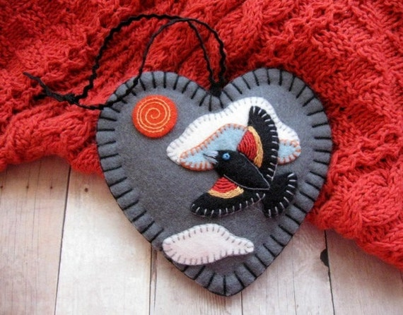 Red-Winged Blackbird Ornament