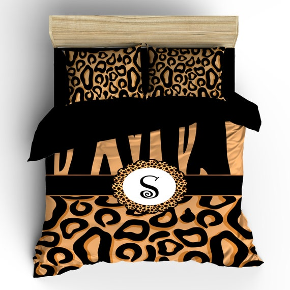 Cheetah Custom Bedding - Personalized - Available in  Toddler, Twin, Full/Queen or King Size Duvet Covers or Comforters