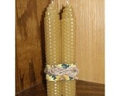Trendy Tapers Beeswax Candles. Set of 2. FREE SHIPPING option