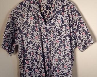 Vintage Mens shirt.  Hawaiian shirt, Aloha shirt,  xl