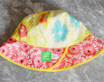 Painterly Floral Sunhat, baby sunhat, girls sun hat, toddler summer hat, girls summer hat, baby sun hat, summer hat, bucket hat, baby sunhat