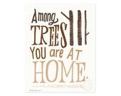 Among Trees Illustrated Art Print